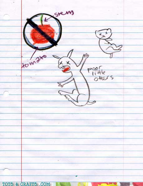 Funny Kids Drawings - Otters Are Deathly Allergic To Stems