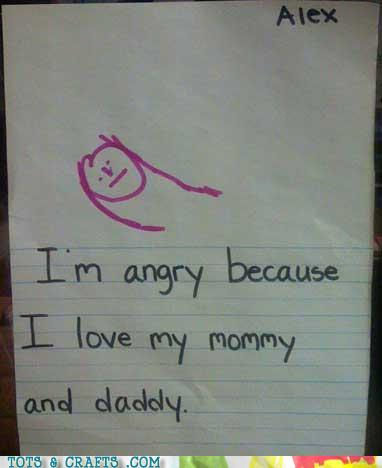 Funny Kids Drawings - Love Stinks