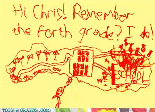 Funny Kids Drawings - Oh Fourth Grade, You Old Scamp You