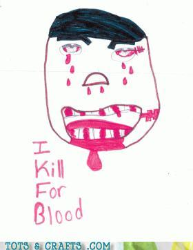 Funny Kids Drawings - At Least He's Honest