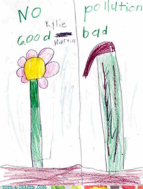 Funny Kids Drawings - Pretty Harsh Criticism Of That Flower
