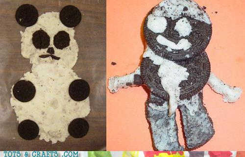 Funny Kids Drawings - Crazy Kids, You Eat Oreos And Play With Veggies!