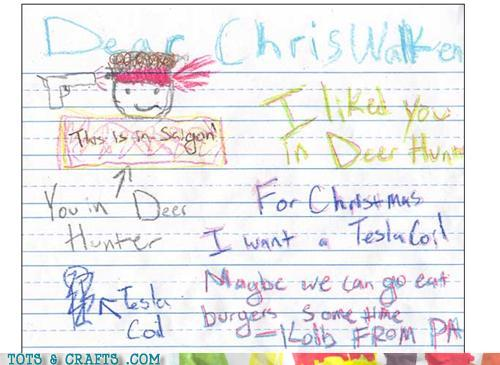 Funny Kids Drawings - Chris Must Have An In With Santa