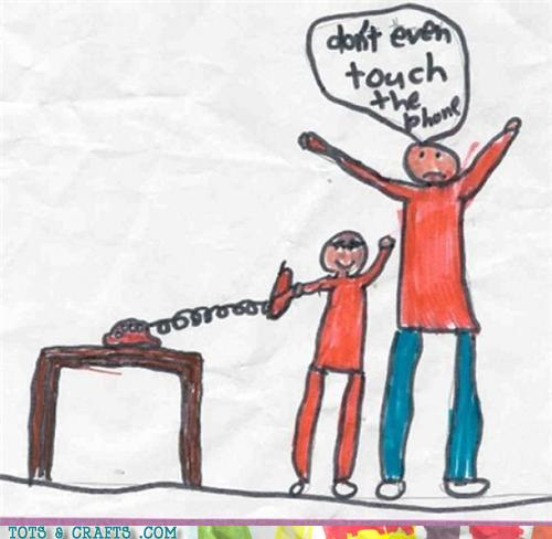 Funny Kids Drawings - I'm Not Touching It, It's Touching Me!