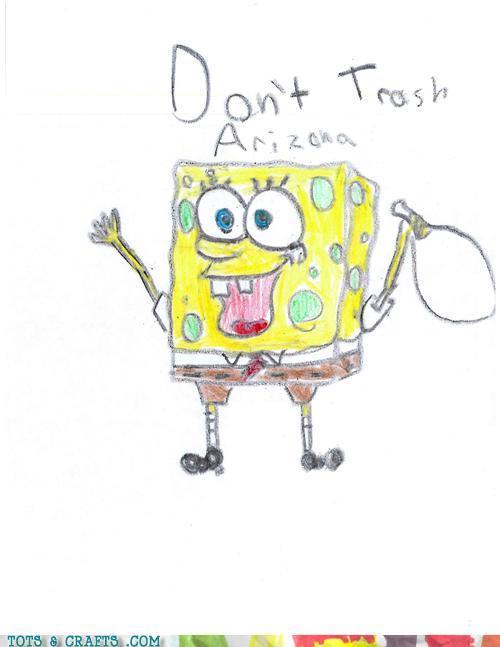 Funny Kids Drawings - Bikini Bottom Is In Arizona?