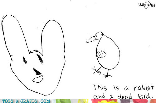Funny Kids Drawings - The Rabbit Won