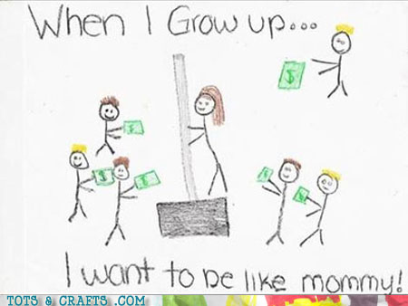 Funny Kids Drawings - Bring Your Daughter To Work Day