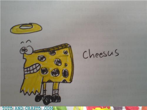 Funny Kids Drawings - Cheesus!