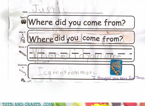 Funny Kids Drawings - I Came From Mars