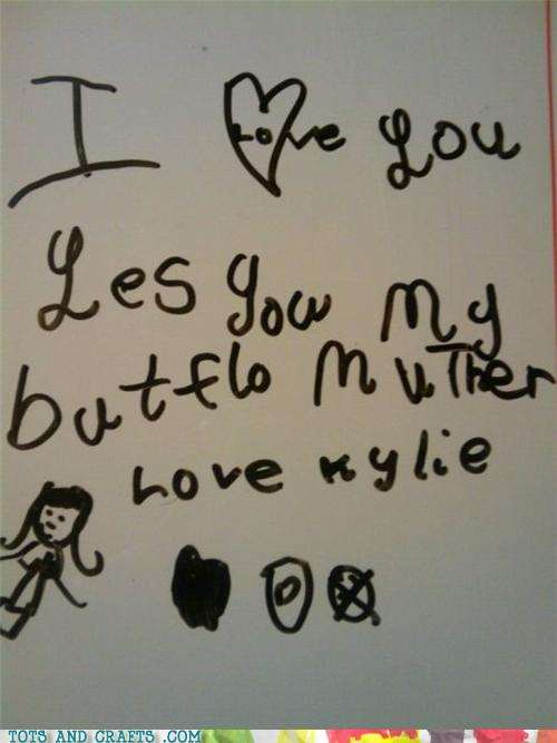 Funny Kids Drawings - What a Butflo Note!