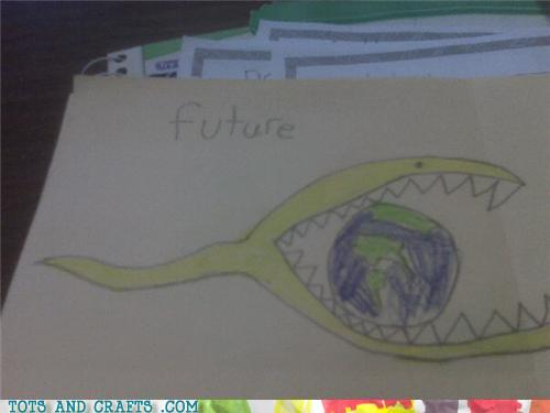 Funny Kids Drawings - I Hope They Make This the Sequel to 2012