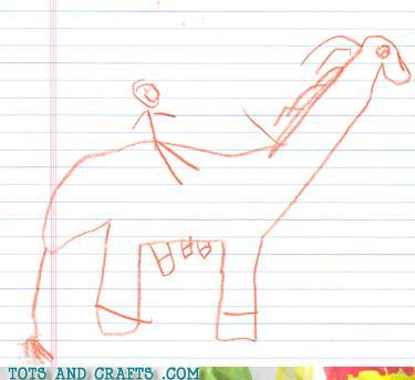 Funny Kids Drawings - 5-Legged Horse