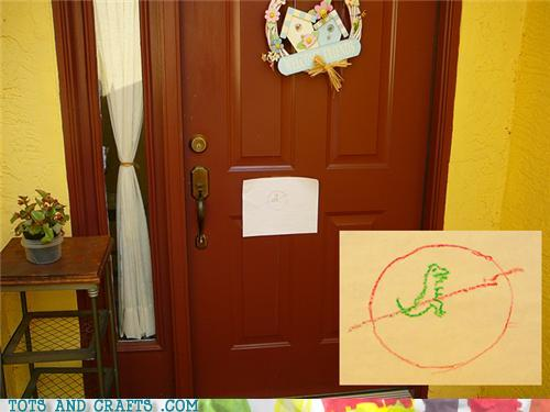 Funny Kids Drawings - No Dinos Allowed